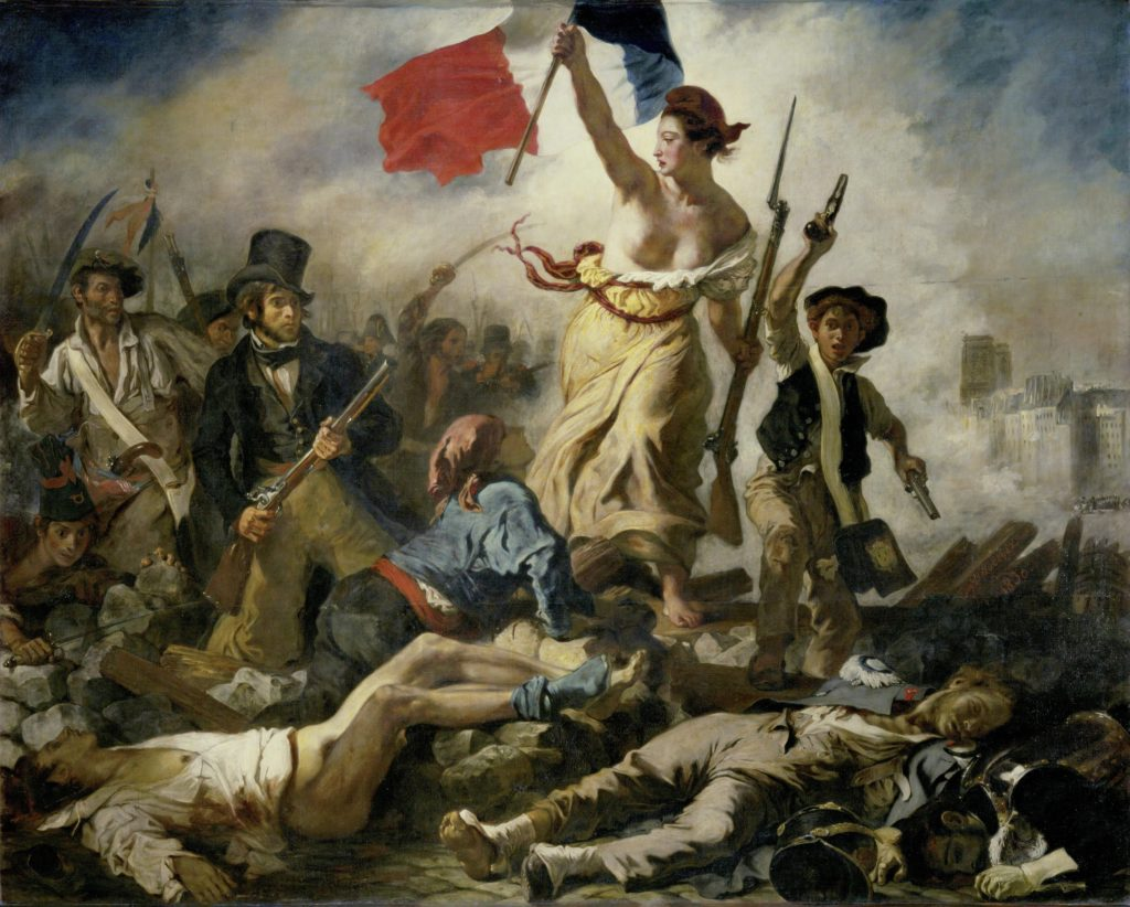 wikicommon, Liberty Leading the People. 1830. Oil on canvas, 260 x 325 cm.